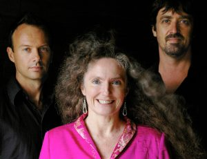 Sandy Evans with Brett Hirst and Toby Hall