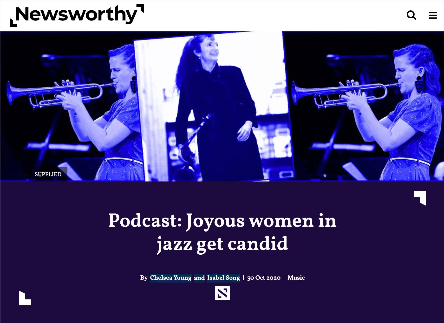 Podcast: Joyous women in jazz get candid